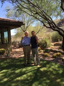 Lattie Coor & DMG President Rich Dubek